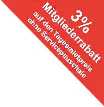 3% Rabatt für ADAC Mitglieder