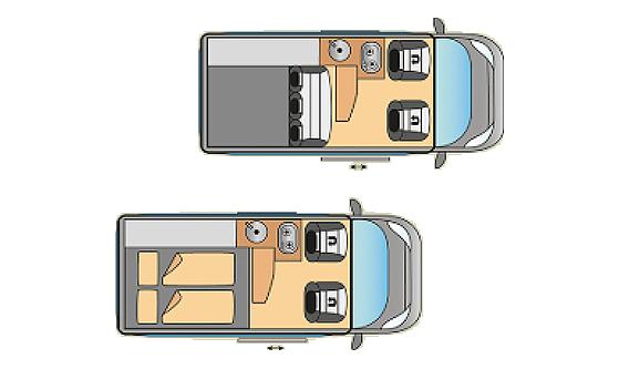 Grundriss Easy Camper Modell Premium
