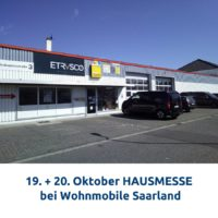 19. + 20.10.2019 HAUSMESSE bei Wohnmobile Saarland